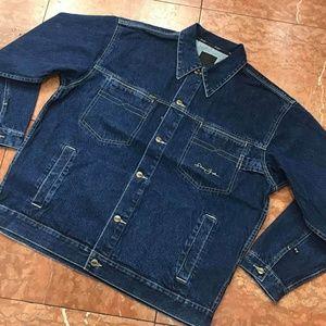 Men's Sean John Blue | Khaki Casual Denim Jacket